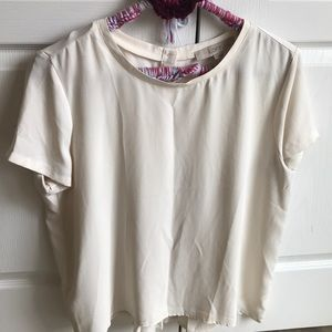 Loft size large loose fitting cream shirt!